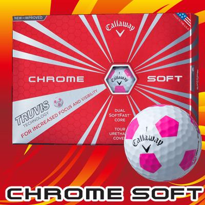 CHROME SOFT TRUVIS ボール 2017年モデル [ホワイト/ピンク]