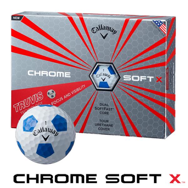CHROME SOFT X TRUVIS ボール [ホワイト/ブルー]
